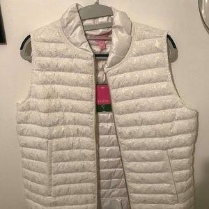 Lilly Pulitzer white vest